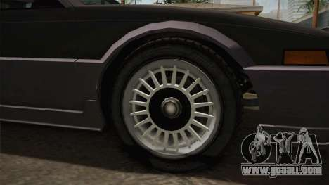 GTA 4 Dinka Hakumai Tuned Bumpers for GTA San Andreas back view