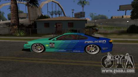 Nissan Silvia S15 Drift Style for GTA San Andreas back left view