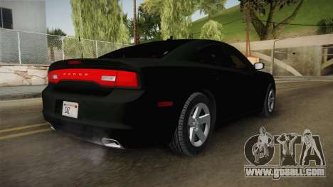 Dodge Charger 2013 Unmarked Iowa State Patrol for GTA San Andreas back left view