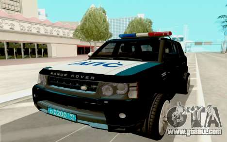 Range Rover Sport Police for GTA San Andreas back view