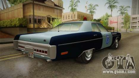 Plymouth Fury 1972 Massachusetts State Police for GTA San Andreas right view