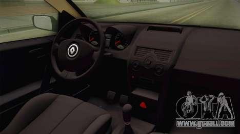 Renault Megane RS for GTA San Andreas inner view