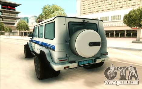Mercedes-Benz G65 Police for GTA San Andreas right view