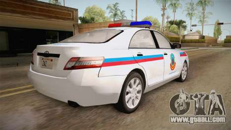 Toyota Camry Turkish Gendarmerie Traffic Unit for GTA San Andreas right view