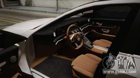 Mercedes-Benz E350e AMG 2016 for GTA San Andreas inner view