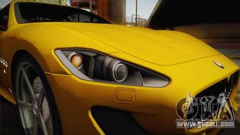 Maserati GranTurismo Sport v2 for GTA San Andreas inner view