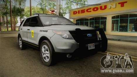 Ford Explorer 2014 Iowa State Patrol for GTA San Andreas