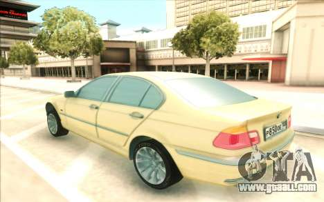 BMW 320 for GTA San Andreas back left view