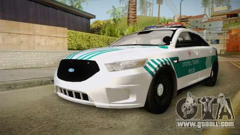 Ford Taurus Turkish Highway Patrol for GTA San Andreas back left view
