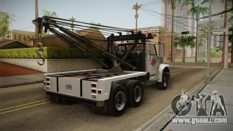 GTA 5 Vapid Towtruck Large Cleaner for GTA San Andreas right view