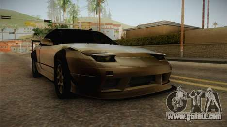 Nissan 240SX Lowpoly for GTA San Andreas right view
