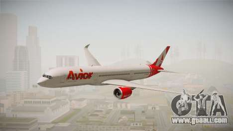 Airbus A350 Avior Airlines (Fictional) for GTA San Andreas back left view