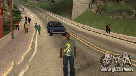 T-Shirt Fallout for GTA San Andreas third screenshot