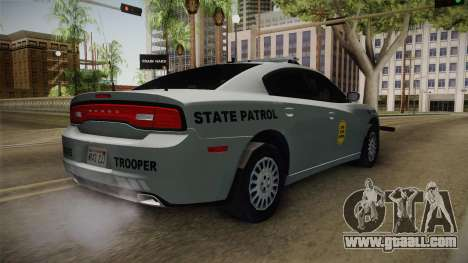 Dodge Charger 2014 Iowa State Patrol for GTA San Andreas back left view