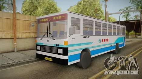 Huanghai DD6111CT Suburban Bus Blue for GTA San Andreas right view