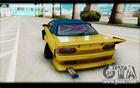 Nissan Skyline R32 for GTA San Andreas back view