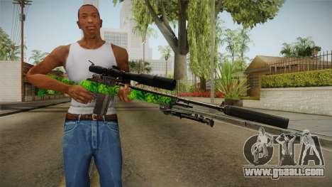 Green Sniper Rifle for GTA San Andreas third screenshot
