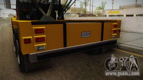 GTA 5 Vapid Towtruck Large Cleaner IVF for GTA San Andreas upper view