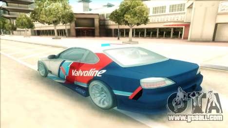 Nissan Silvia S15 Facelift Chaser Valvoline for GTA San Andreas back left view