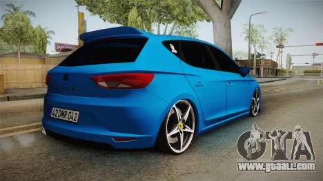 Seat Leon FR Blue for GTA San Andreas left view