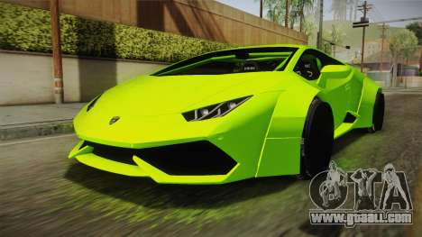 Lamborghini Huracan Rocket Bunny 2014 for GTA San Andreas right view