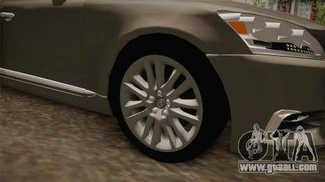Lexus LS 460 Interior for GTA San Andreas back view