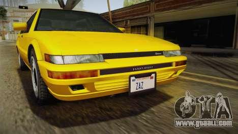 GTA 4 Dinka Hakumai SA Style for GTA San Andreas inner view