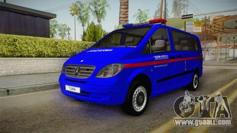 Mercedes-Benz Vito Turkish Gendarmerie for GTA San Andreas right view