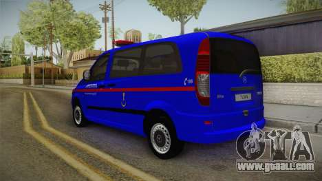 Mercedes-Benz Vito Turkish Gendarmerie for GTA San Andreas back left view