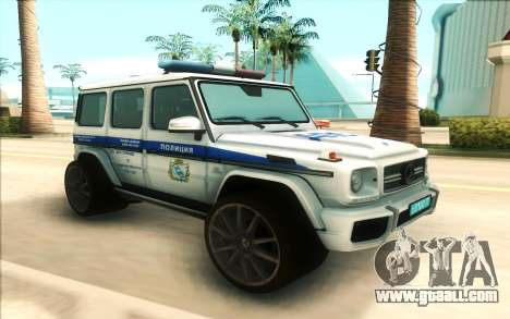 Mercedes-Benz G65 Police for GTA San Andreas
