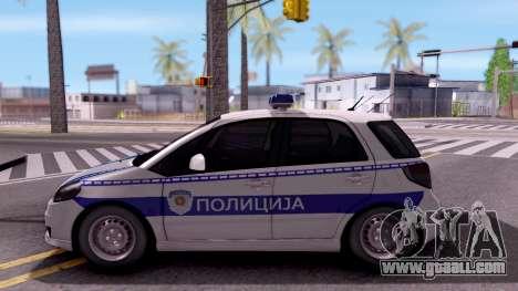 Suzuki SX4 Policija for GTA San Andreas left view