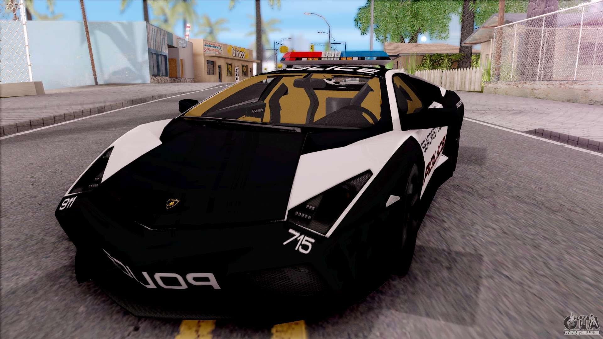 Lamborghini reventon high speed police for gta san andreas for Lamborghini reventon interior