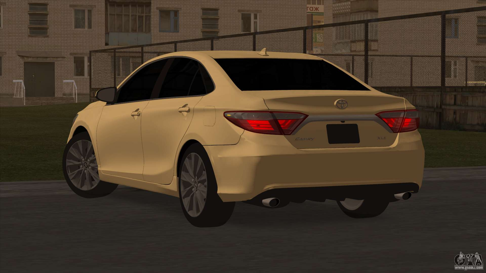 Toyota camry 2017 for gta san andreas right view