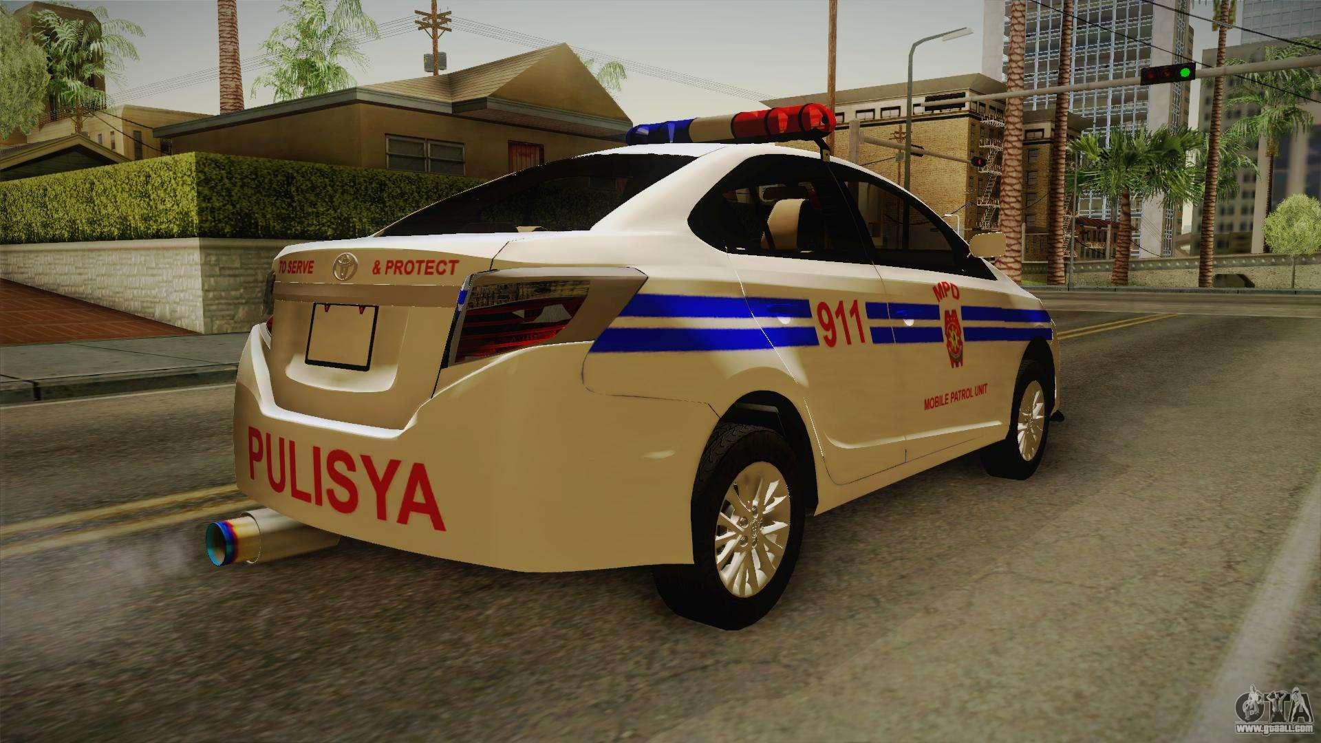 toyota vios 2014 philippine national police for gta san