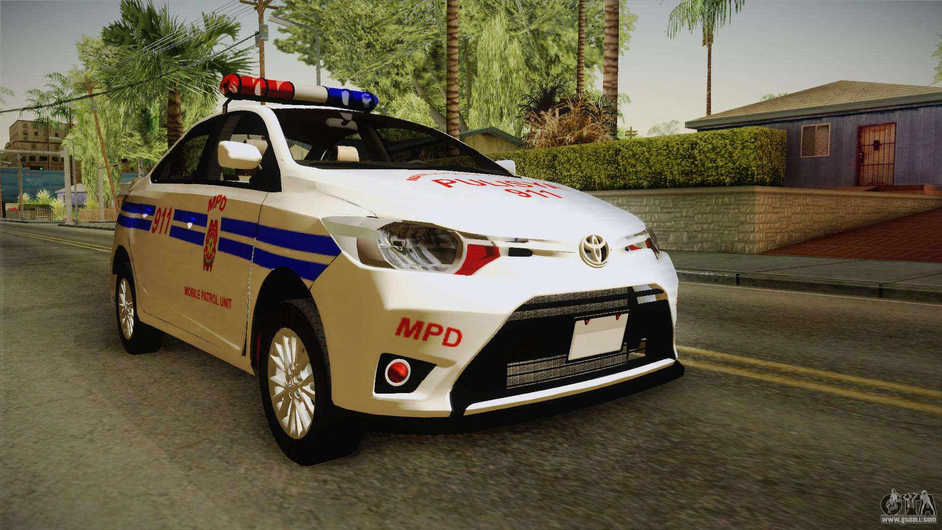 toyota vios 2014 philippine national police for gta san