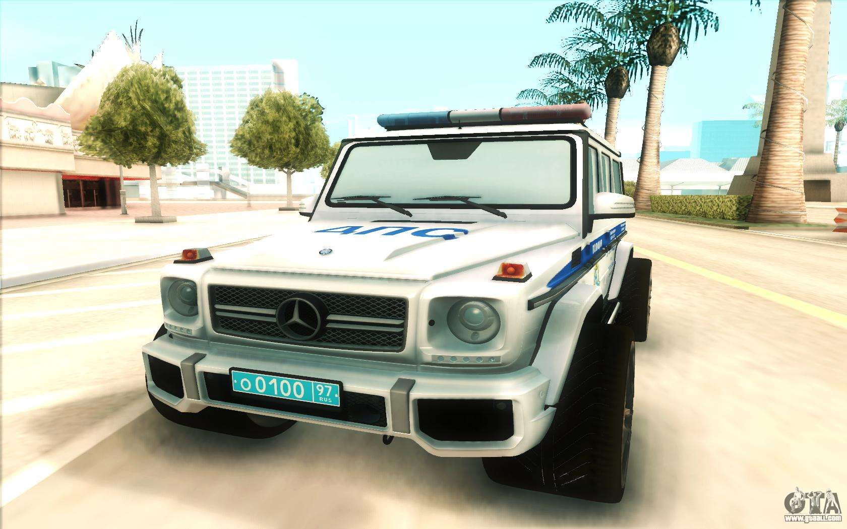 Mercedes benz g65 police for gta san andreas for Mercedes benz g65