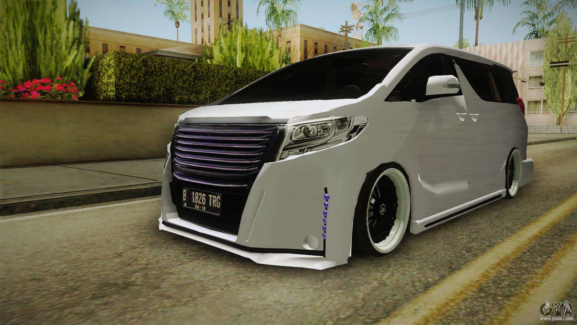 Toyota alphard 3 5g bodykit 2015 for gta san andreas right view
