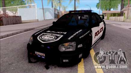 Subaru Impreza WRX STi High Speed Police for GTA San Andreas
