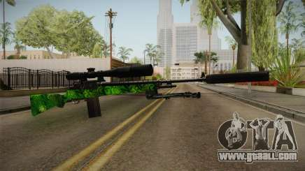 Green Sniper Rifle for GTA San Andreas