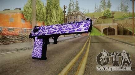 Tiger Violet Desert Eagle for GTA San Andreas