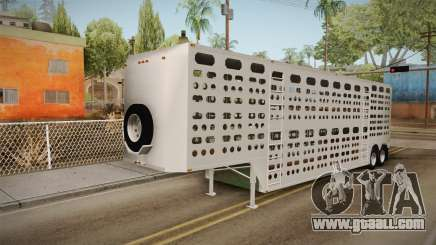 Double Trailer Livestock v3 for GTA San Andreas