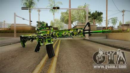 Green Camouflage M4 for GTA San Andreas