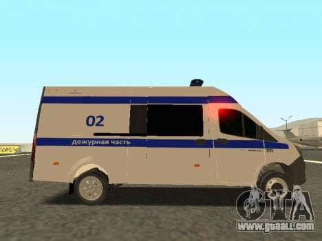 GAZelle NEXT Police for GTA San Andreas left view