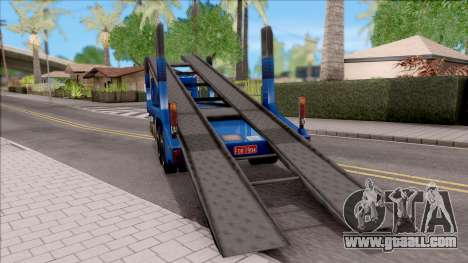 Scania 112H Cegonha for GTA San Andreas back left view