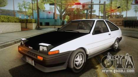 Toyota Corolla AE86 for GTA San Andreas bottom view