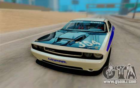 Dodge Challenger Drag Pak Supercharged for GTA San Andreas back view