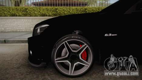 Mercedes-Benz C63 for GTA San Andreas back left view