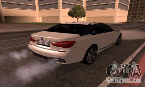 BMW 750i Armenian for GTA San Andreas back left view