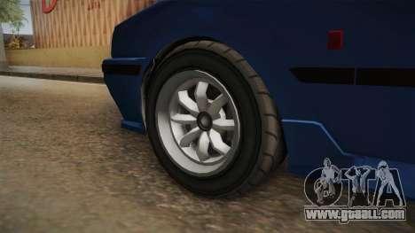GTA 5 Karin Futo 4-doors IVF for GTA San Andreas back view