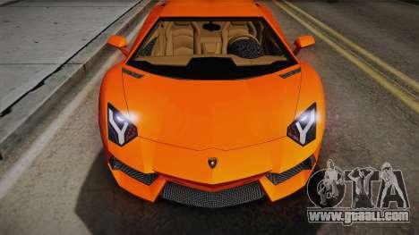 Lamborghini Aventador LP700-4 Stock for GTA San Andreas back left view